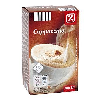 DIA Café cappuccino monodosis Caja 10 sobres