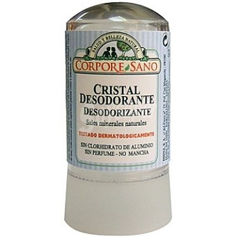 CORPORE SANO Cristal Desodorante sales minerales naturales sin perfume no mancha Envase 120 g