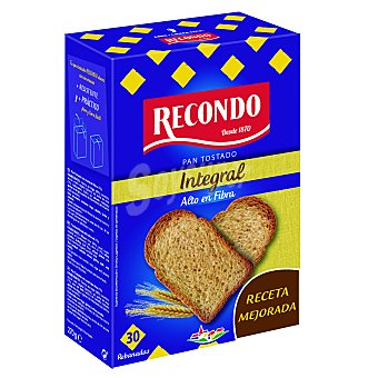 Recondo Pan tostado integral Paquete 270 g