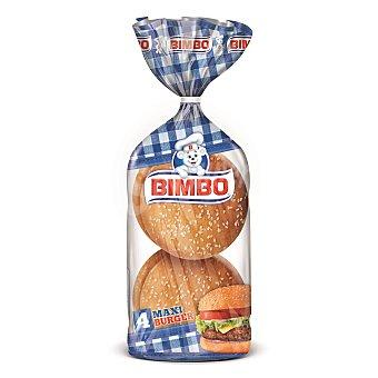 Bimbo Panecillos hamburguesa con semillas sésamo Maxi Burger Paquete de 300 g (4 unidades)