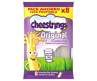 Cheestrings Queso en tiras ideal para lonchera infantil 160 g