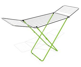 GIMI Tendedero de acero con patas color verde, 20 metros lineales de tendido 1 unidad