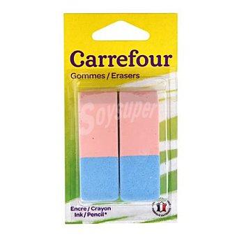 Carrefour Gomas para lápiz/bolígrafo 2 ud