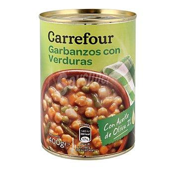 Carrefour Garbanzos con verduras 400 g