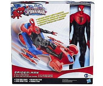 HASBRO Figura Titan Spiderman con Vehículo 1u