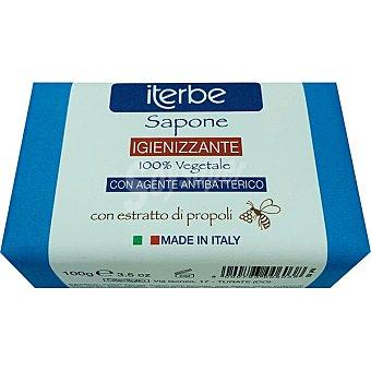 ITERBE Jabón vegetal natural higienizante con extracto de propóleo Pastilla 100 g