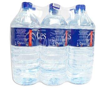 CORTES Agua Mineral Pack 6 Unidades de 1,5 Litros