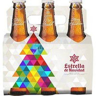 Estrella Galicia Cerveza Especial Navidad Pack 6x33 cl