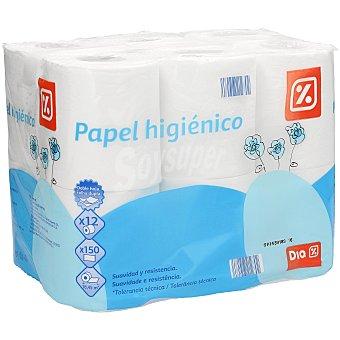DIA Papel higiénico blanco 2 capas Paquete 12 uds