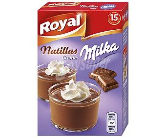 ROYAL Preparado para natillas Milka 15 raciones  Caja de 150 g