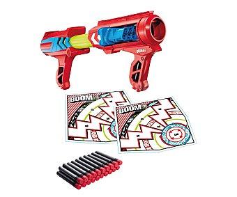 BOOM CO Pistola lanzadora de dardos de foam modelo Mad Slammer, incluye 20 dardos y 2 dianas boom CO. 1 unidad 1 unidad