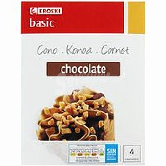 Eroski Basic Cono de chocolate Pack 4x120 ml