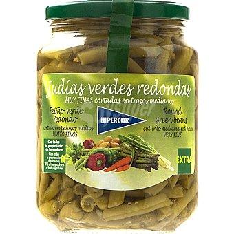Hipercor Judías verdes extra redondas Frasco 350 g neto escurrido