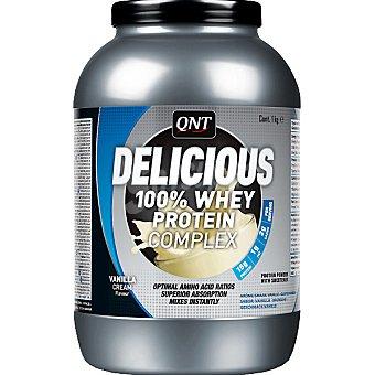QNT Delicious 100% Whey Protein Complex sabor vainilla y caramelo Envase 1 kg