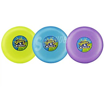 SPORTS & FUN Disco o plato volador de divertidos colores 1 unidad