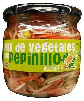 Hacendado Mix de vegetales con pepinillo (zanahoria,apio,maiz,pimiento) Tarro 190 g escurrido