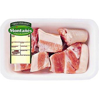 Rabo fresco de cerdo peso aproximado Bandeja 500 g