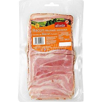 Aliada Bacon ahumado sin gluten en lonchas especial para sándwich Envase 200 g