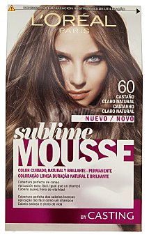 Sublime L'Oréal Paris Tinte coloración permanente espuma Nº 60 castaño claro natural Casting Crème Gloss 1 unidad