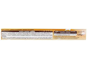 Auchan Palets bretons de mantequilla 125 gramos