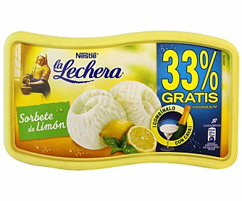 La Lechera Nestlé Helado Sorbete de Limón Helado Tarrina de 900 Mililitros