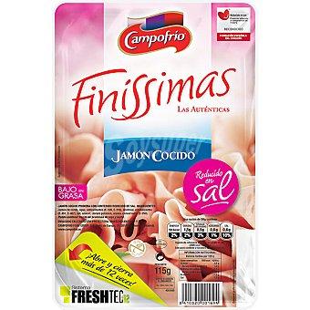 Finissimas Campofrío Jamón cocido sin sal Envase 115 g