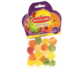 Miguelañez Caramelos de goma de colores con sabor a frutas (sin grasa) 150 gramos