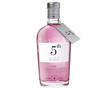 5 th FIRE Red Fruits Ginebra premium inglesa tipo London dry gin Botella de 70 centilitros
