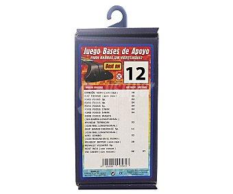 ROLMOVIL Juego de Bases de Apoyo para Barras de Transporte sin Vierteaguas, Número 12 1u