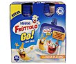 Petit líquido de fresa y plátano de nestlé 4 unidades de 80 gramos Fruttolo Nestlé