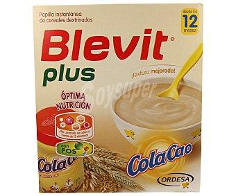 Blevit Papilla plus instantánea de cereales con cola cao 600 g