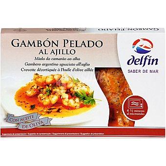 Delfín Gambón pelado al ajillo con aceite de oliva Estuche 250 g
