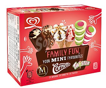 Magnum Surtido de helados mini family fun 6 unidades de 340 ml