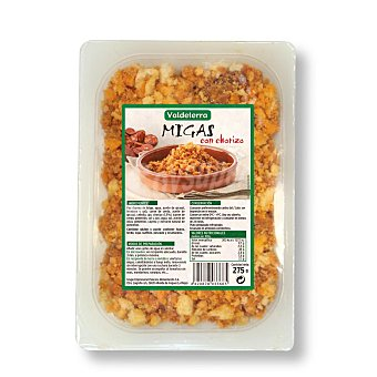 Valdeterra Migas con chorizo Envase de 275 g
