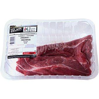 Harakai Label Vasco añojo morcillo/zancarrón IGP Carne de Vacuno del País Vasco Euskal Okela peso aproximado Bandeja 800 g