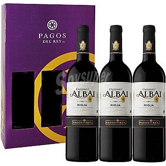 Castillo de Albai Vino tinto joven D.O. Rioja Estuche 3 botellas 75 cl