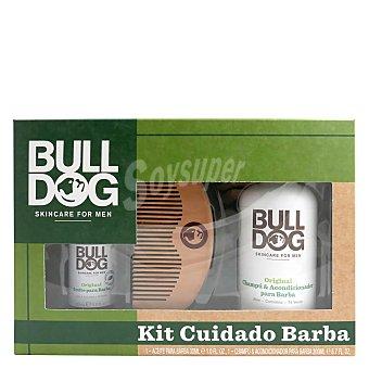 Bulldog Kit cuidado barba (Aceite para barba 30 ml. + Champú y acondicionador para barba 200 ml.) 1 ud