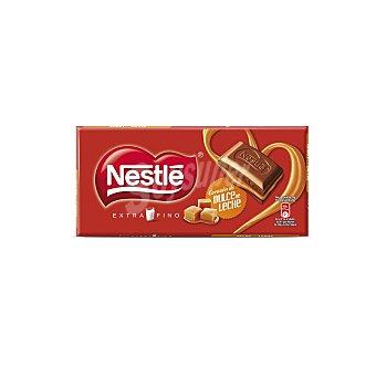 Nestlé Chocolate con leche relleno de dulce de leche Tableta 120 g