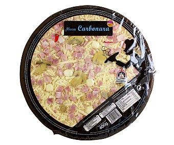 Auchan Pizza carbonara cocida en horno de piedra 400 gr
