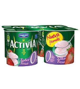 Danone - Activia Activia 0% sabor fresa Danone pack de 4x125 g