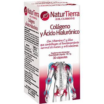 NATURTIERRA Colágeno y ácido hialurónico huesos y articulaciones ápsulas envase 120 g 30 c