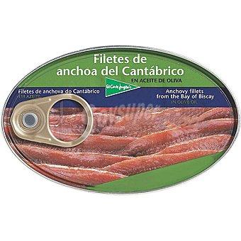 El Corte Inglés Filetes de anchoa del Cantábrico en aceite de oliva Lata 115 g neto escurrido