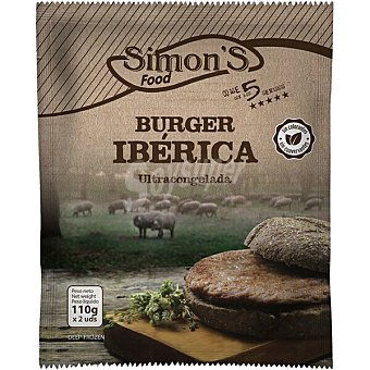 Simon's Hamburguesa ibérica 2 unidades Estuche 220 g