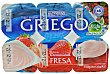 Yogur griego fresa Pack 6 x 125 g - 750 g Hacendado