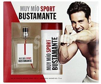 Bustamante Estuche Muy Mío: Eau de Toilette 100ml + Gel 75ml 1 Unidad