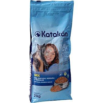KATAKÁN Alimento Mix para gatos, con pescado, verduras y cereales  Bolsa de 2 kg