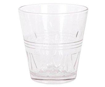 SWEET AHOME Toulouse Pack de 10 vasos de vidrio transparente con diseño en relieve, 0,25 litros, Touluse AHOME.