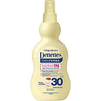Denenes leche solar FP-30 para pieles sensibles frasco 200 ml