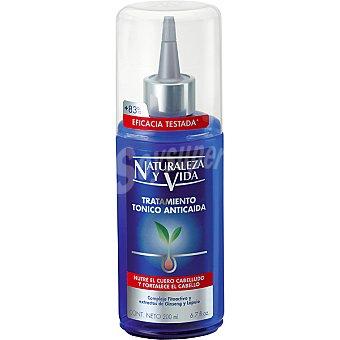 Naturaleza y Vida Tónico tratamiento anticaída nutre el cuero cabelludo y fortalece el cabello dosificador 150 ml con complejo fitoactivo y extracto de Ginseng y Lúpulo 150 ml