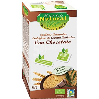 HORNO NATURAL galletas integrales de espelta con chocolate sin lactosa envase 100 g